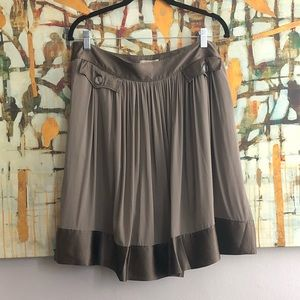 Burberry Taupe Silk Skirt